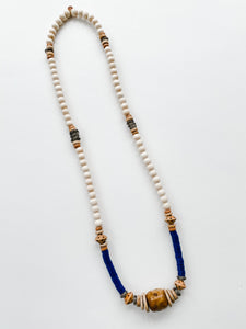 Beaded Allie Necklace in Fall Navy