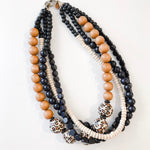 Multi Strand Necklace - Cheetah | Tobacco | Black