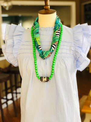 Born to be Wild - Allie Necklace in Green