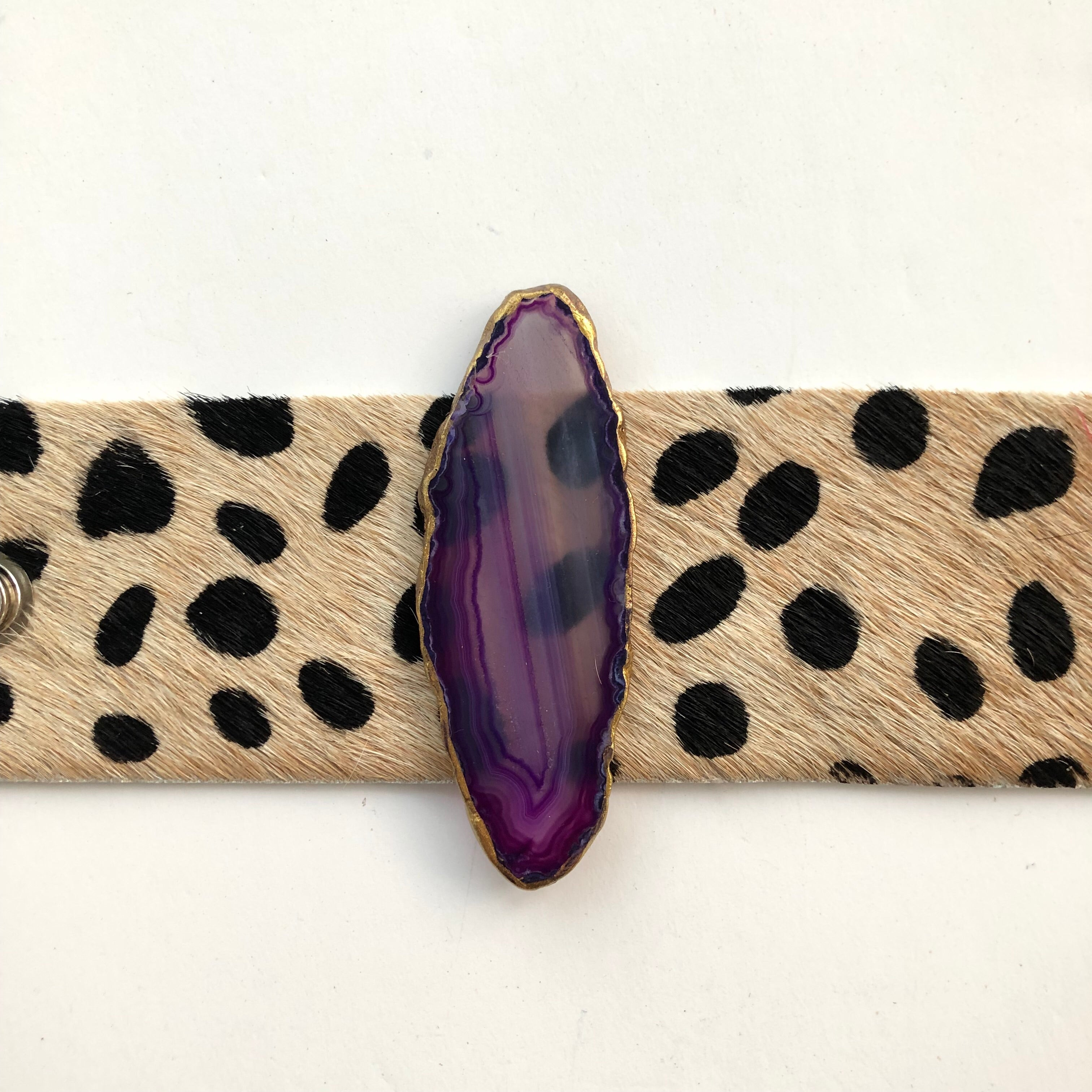 Hide on Hair Cuff | Purple Agate  - A Fall Favorite