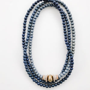 Ombré Wrap Necklace in Shades of Black to Grey - A Fall Favorite
