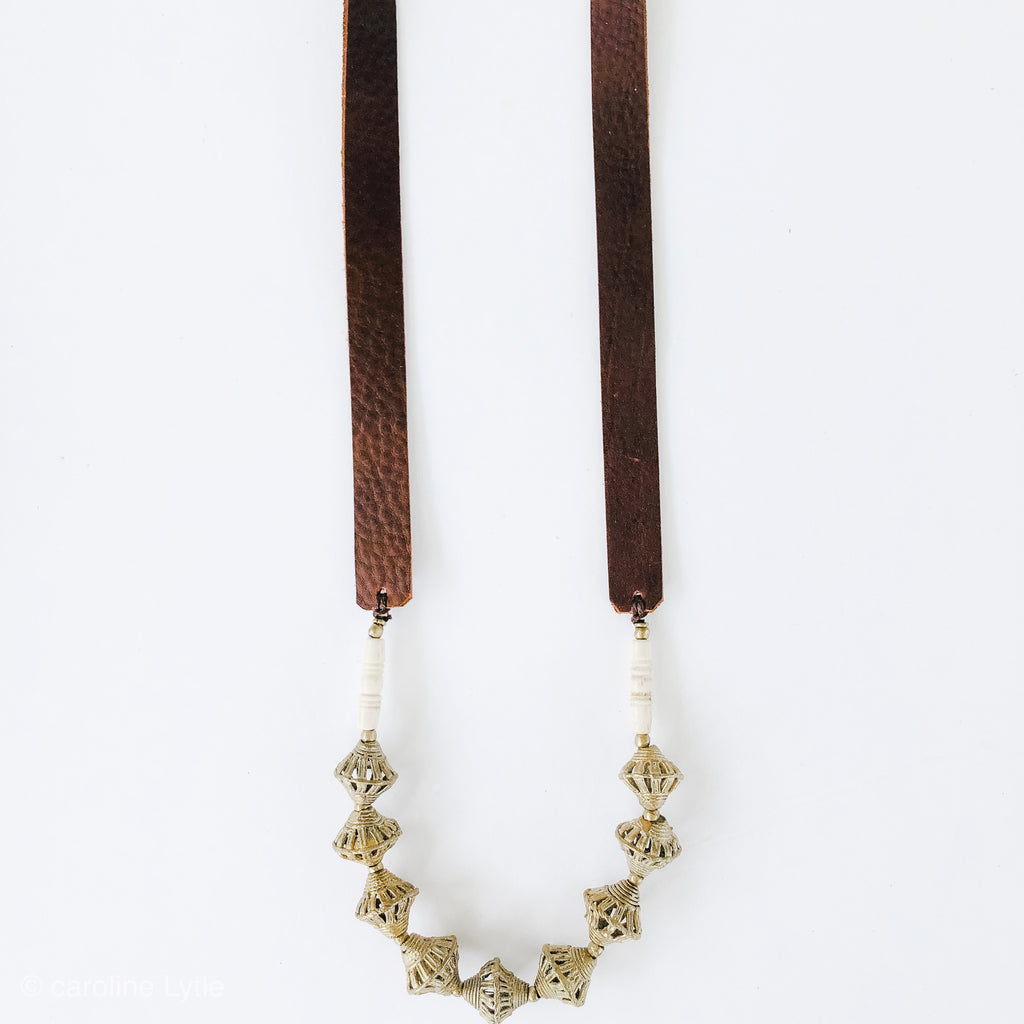 Summer Allie Necklace in Brass