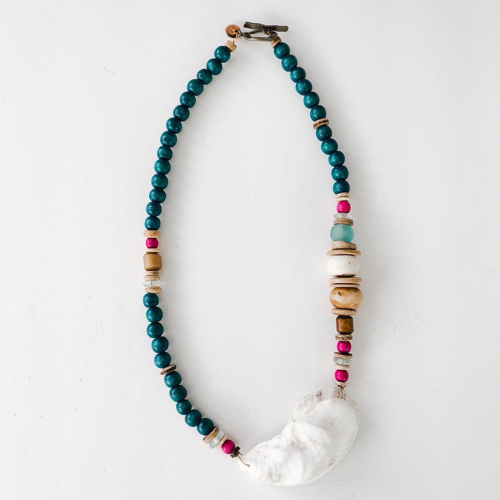 Sea to Sand Necklace - Oyster in Fall Color