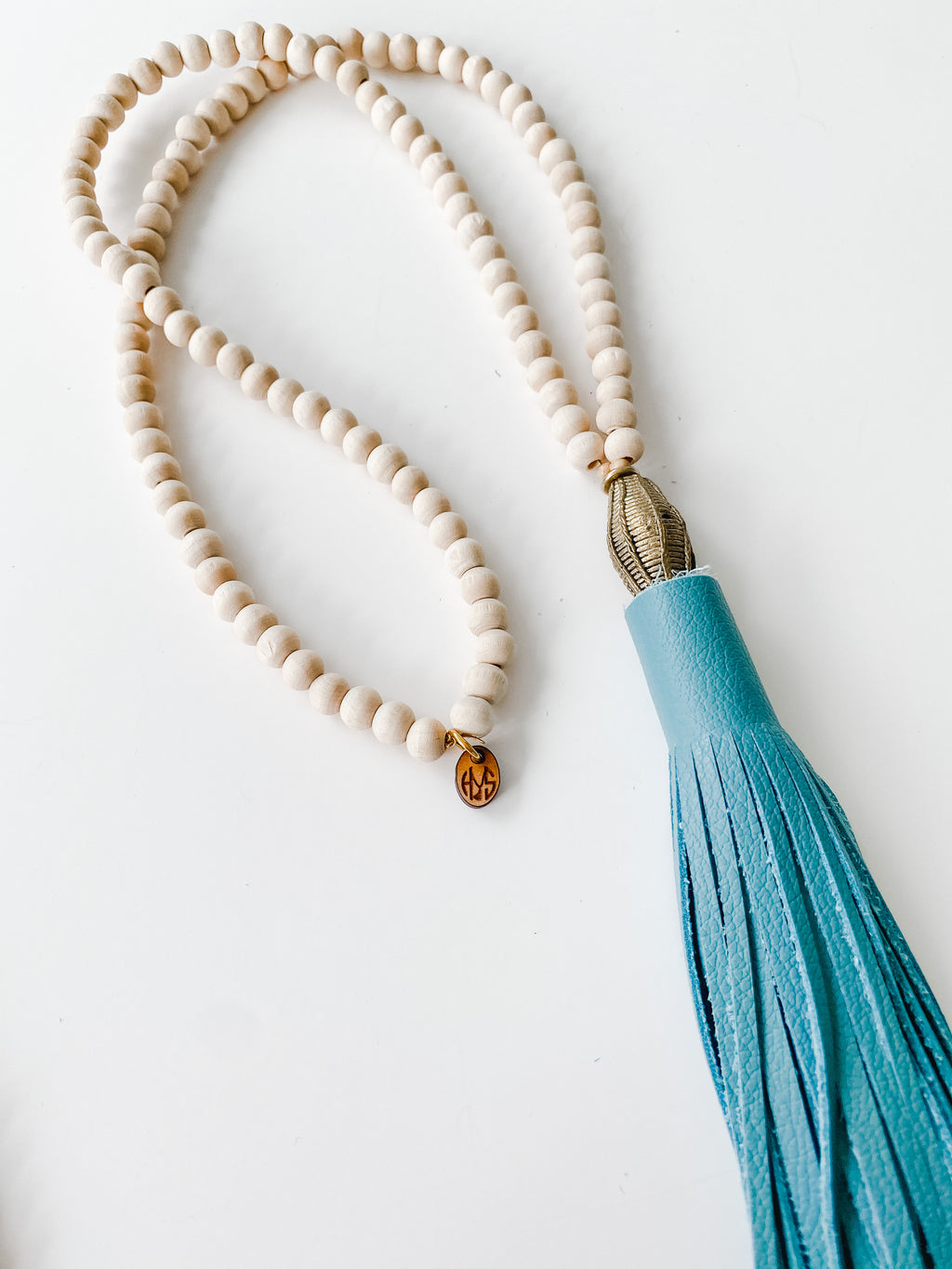 Fall Leather Tassel - Blue | Natural
