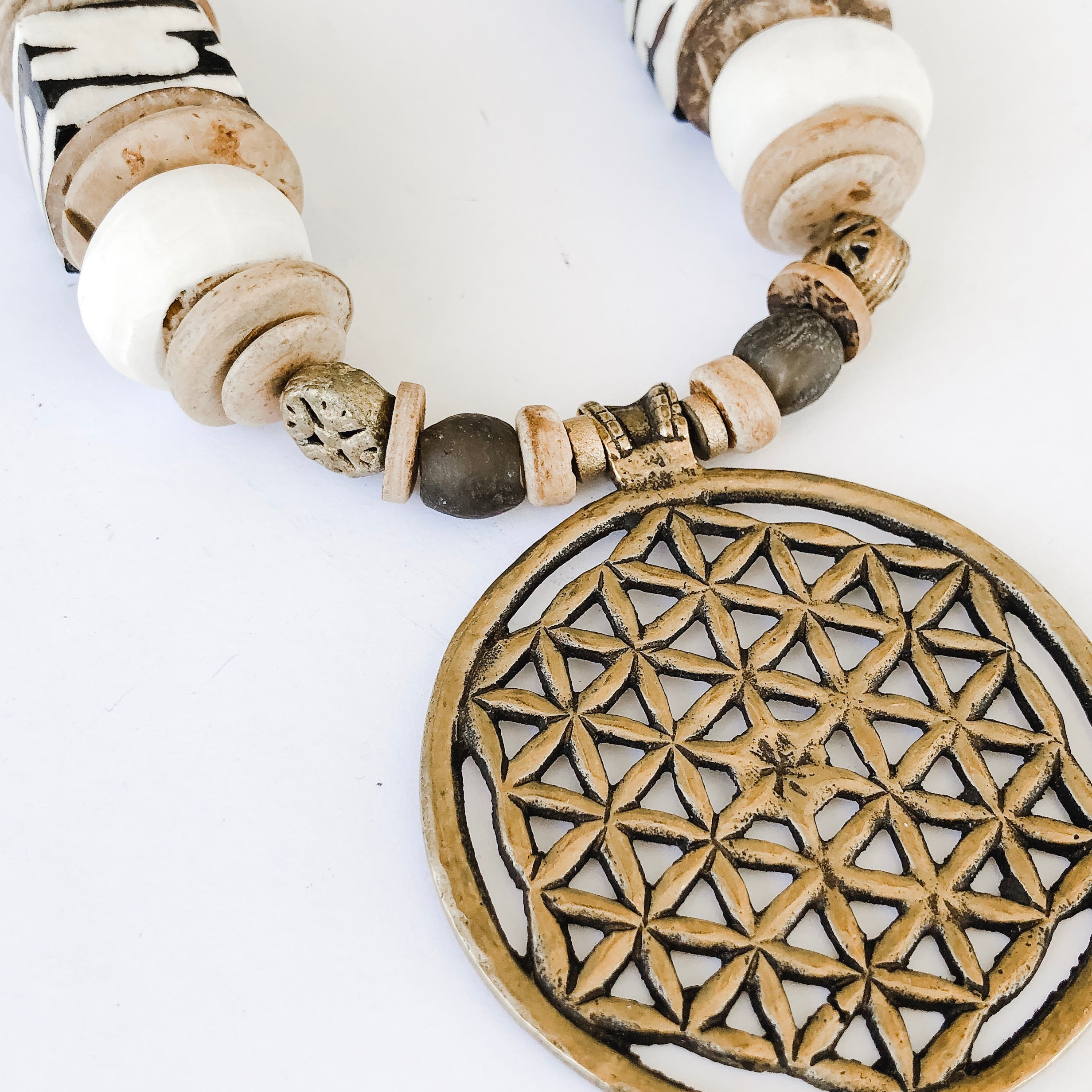 Brass Pendant Necklace | Cheetah Strap