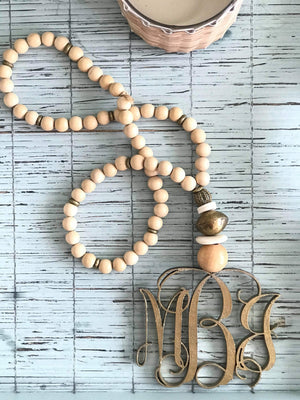 Monogrammed HOME blessings beads