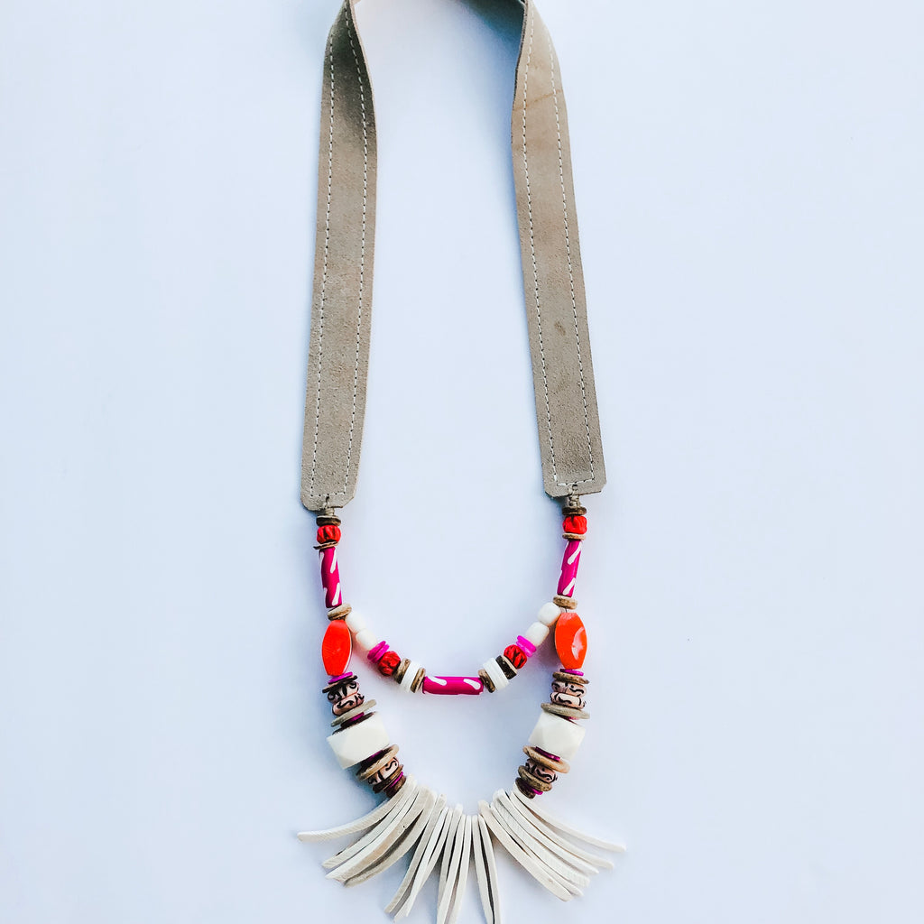 Summer Olivia Necklace - Rainbow Sherbet