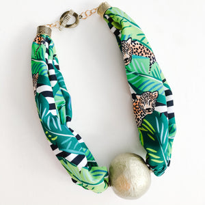 Born to be Wild - Cheetah Jungle Scarf Necklace