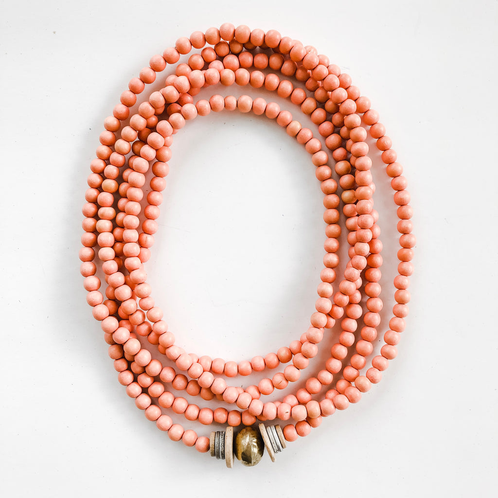 Simply Stated Wrap Necklace in Peach - A Fall Favorite