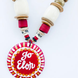 Game Day Tailgate Azalea Necklace - Go Elon