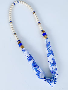 Born to be Wild - Summer Beaded Zebra Scarf Necklace
