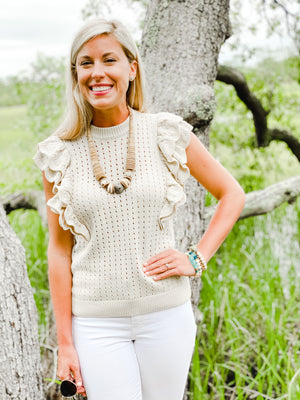 Simply Stated | Summer Neutral Statement Necklace