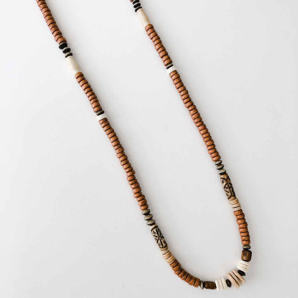 Beaded Allie Necklace in Browns - Layer Option #3