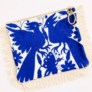 Summer of Color - Otomi Blue Birds Clutch