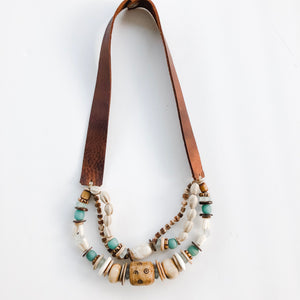 Fall 2019 Allie Necklace - Triple Twist Sea to Sand Midi Length
