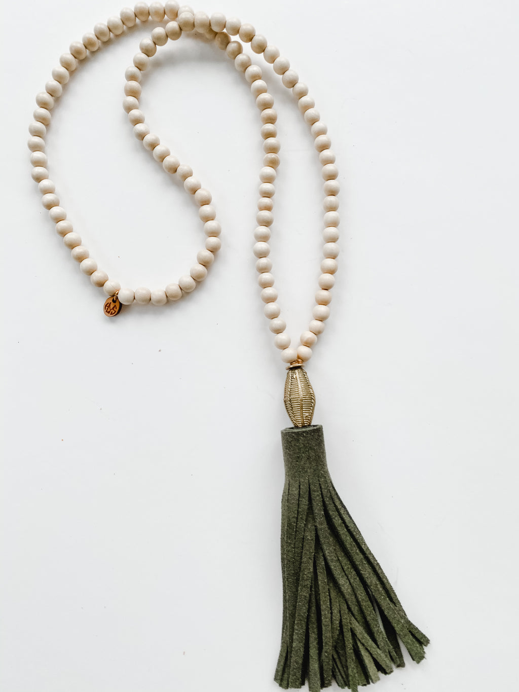 Fall Leather Tassel - Olive | Natural