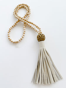Color Me Tassel Necklace - Ivory