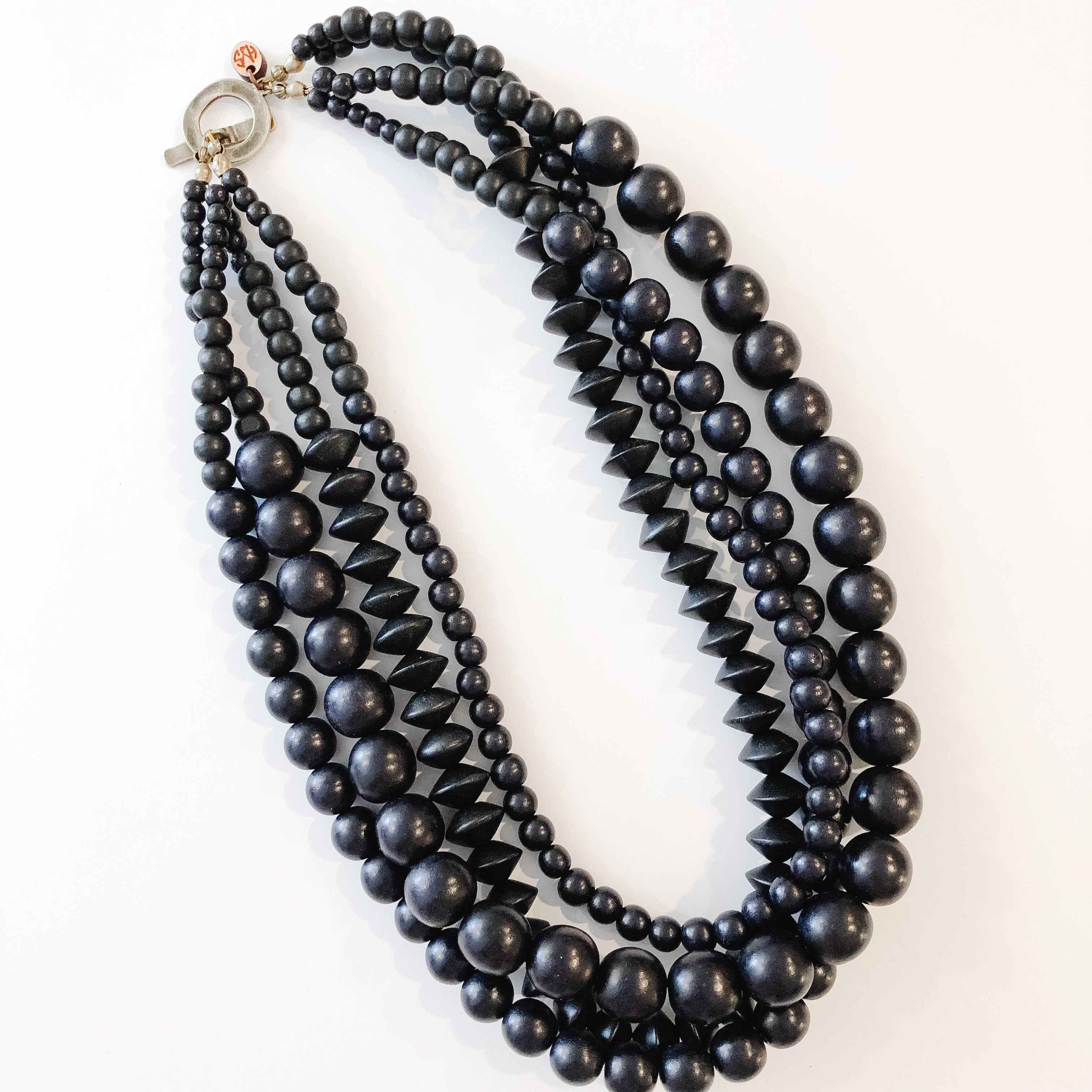 Multi Strand Necklace | Black