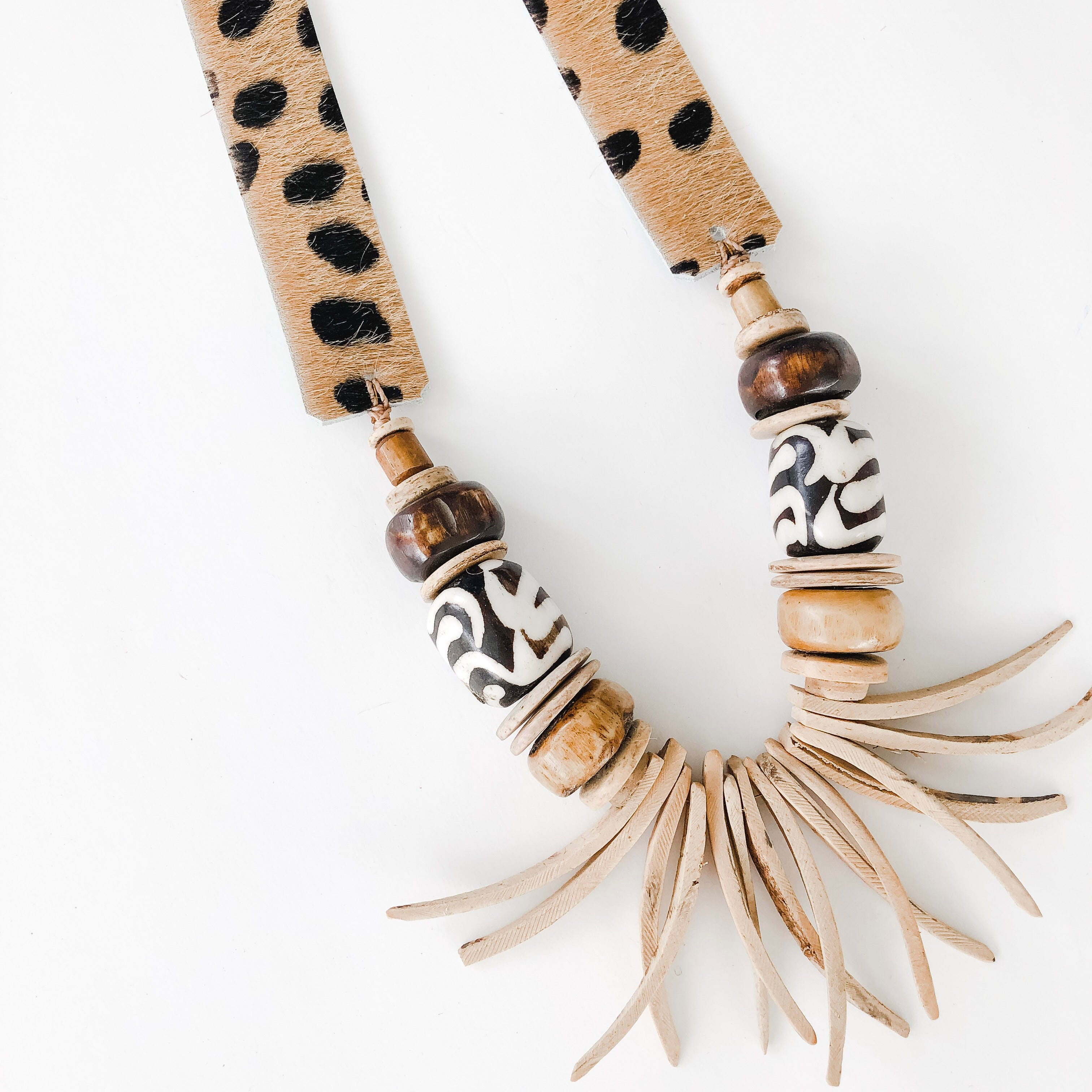 Olivia Necklace in Neutrals | Cheetah Strap