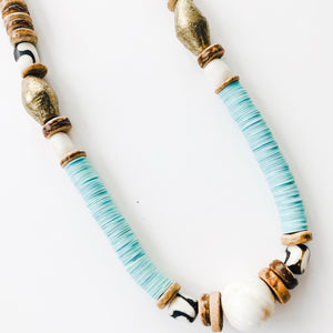 Game Day Tailgate Allie Necklace - Carolina Blue
