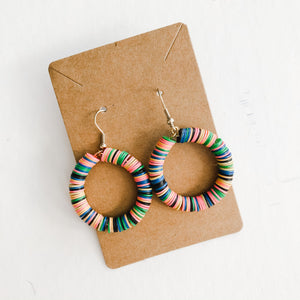 Born to be Wild - Vinyl Multi Color Earrings