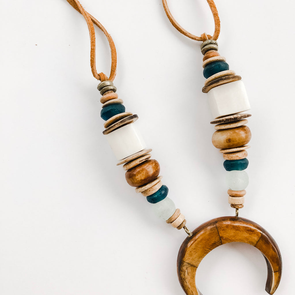 Clyda | Horn Pendant Necklace