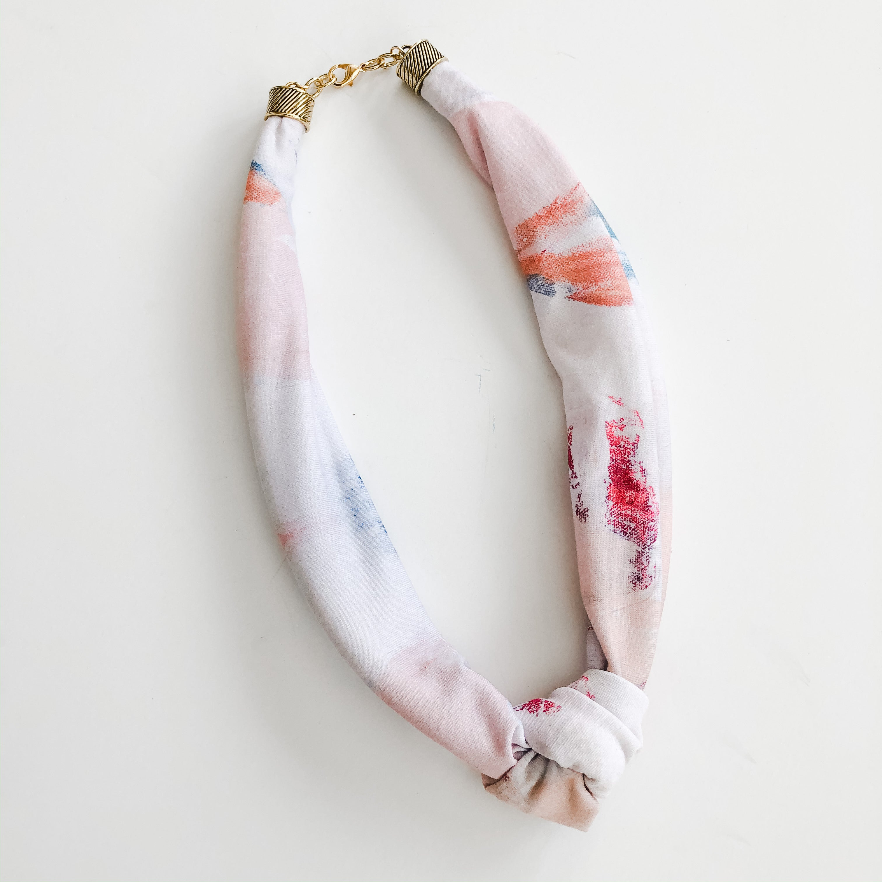 Sea to Sand Scarf Necklace - Spring Desert