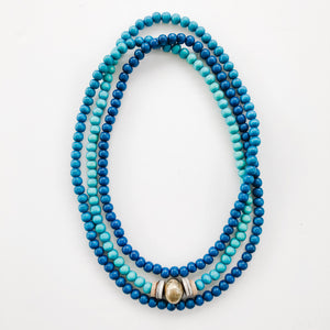 As Seen on FB | Ombré Wrap Necklace in Shades of Teal - A Fall Favorite