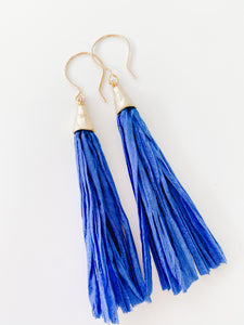Color Me Sari Earrings - Blue