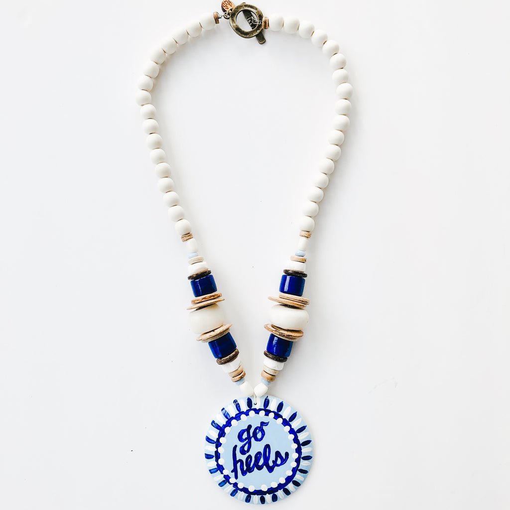 Game Day Tailgate Azalea Necklace - Go Heels