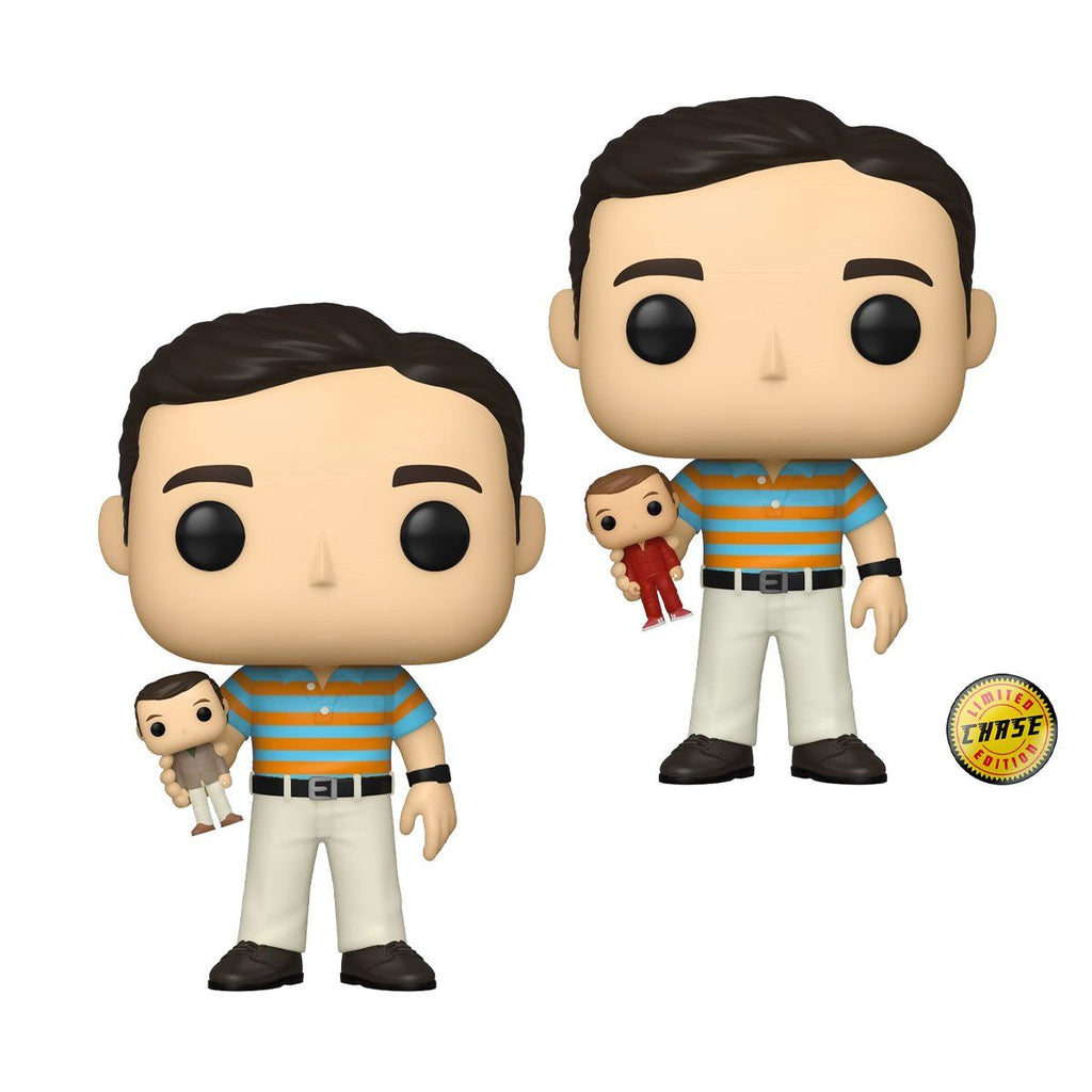 Andy Holding Oscar GUARANTEED CHASE BUNDLE! 40 Year Old Virgin Funko POP! Movies [PRE-ORDER FOR FEB 2021* DELIVERY] POP! Funko