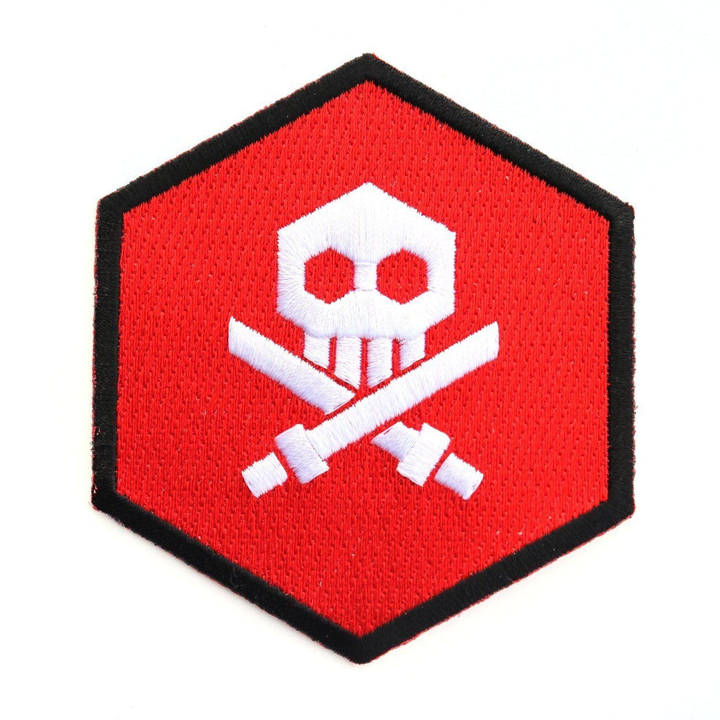 Bulletpunk Red Logo Iron-On Patch by Quiccs x Martian Toys Patch Martian Toys
