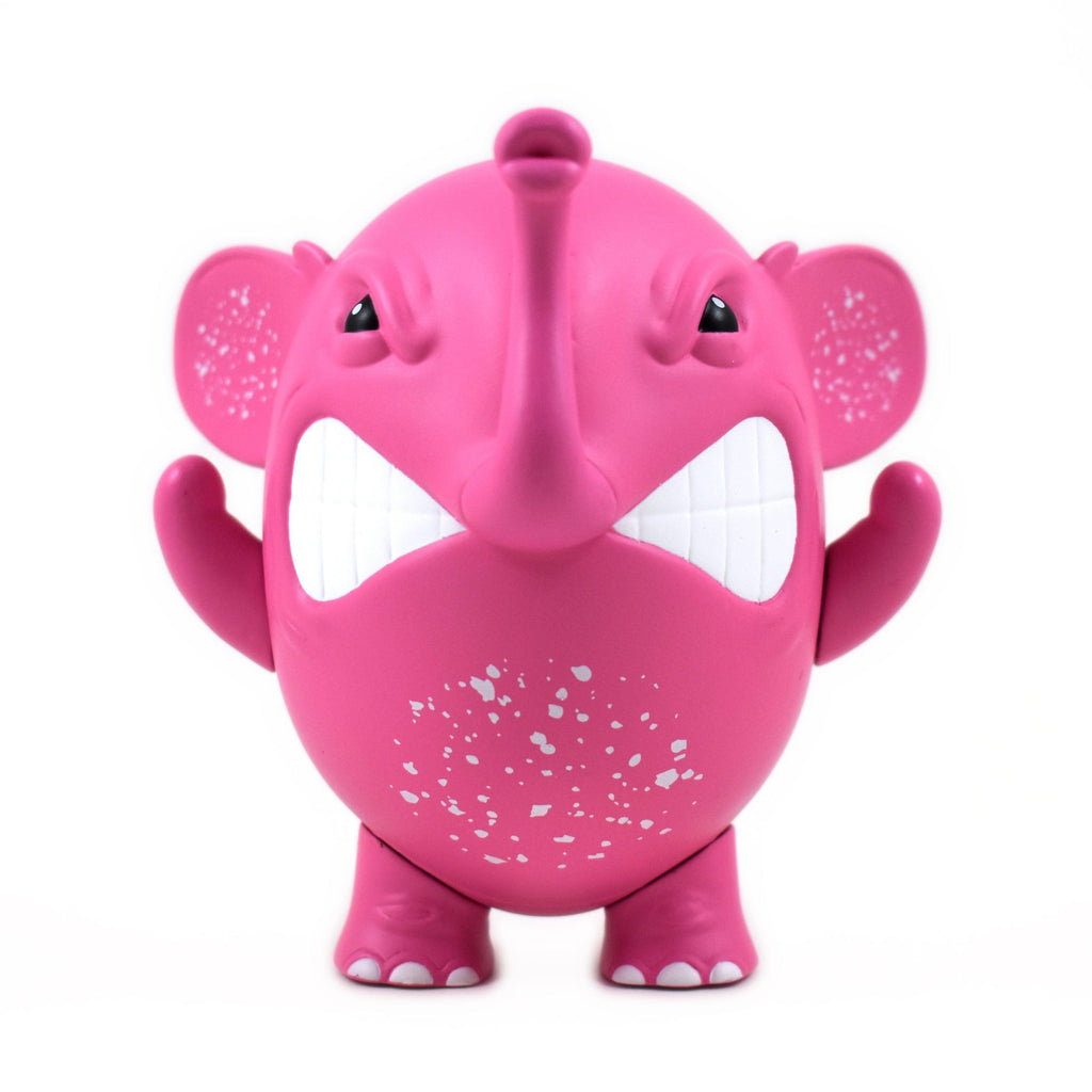 "Charlie The Angry Elephant ""Pink"" by Angel Once 4-inch Vinyl Toy UVD Toys"