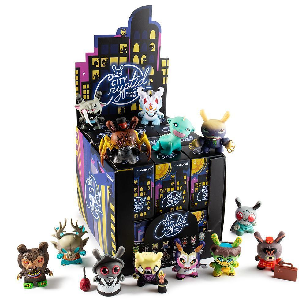 City Cryptid Multi-Artist Dunny Art Figure Series by Kidrobot Blind Box kidrobot Sealed Case of 24