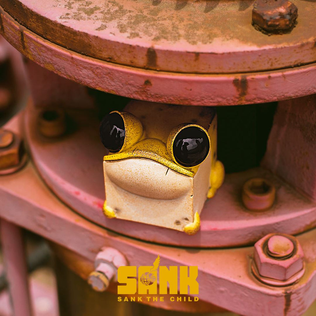 Cube Frog (Yellow) Cube Series by Sank Toys [PRE-ORDER] Little Sank Sank Toys