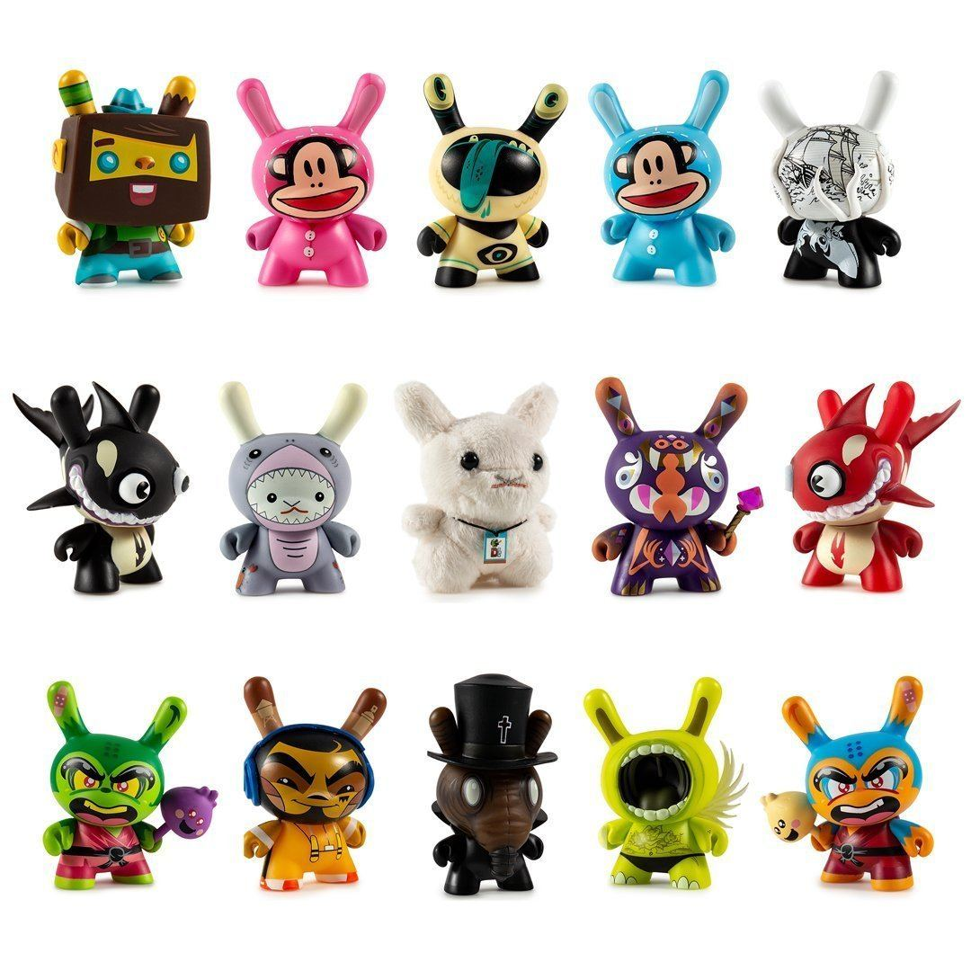 Designer Con Dunny Art Figure Series Blind Box Mini by kidrobot x DCON Blind Box kidrobot Sealed Case of 24
