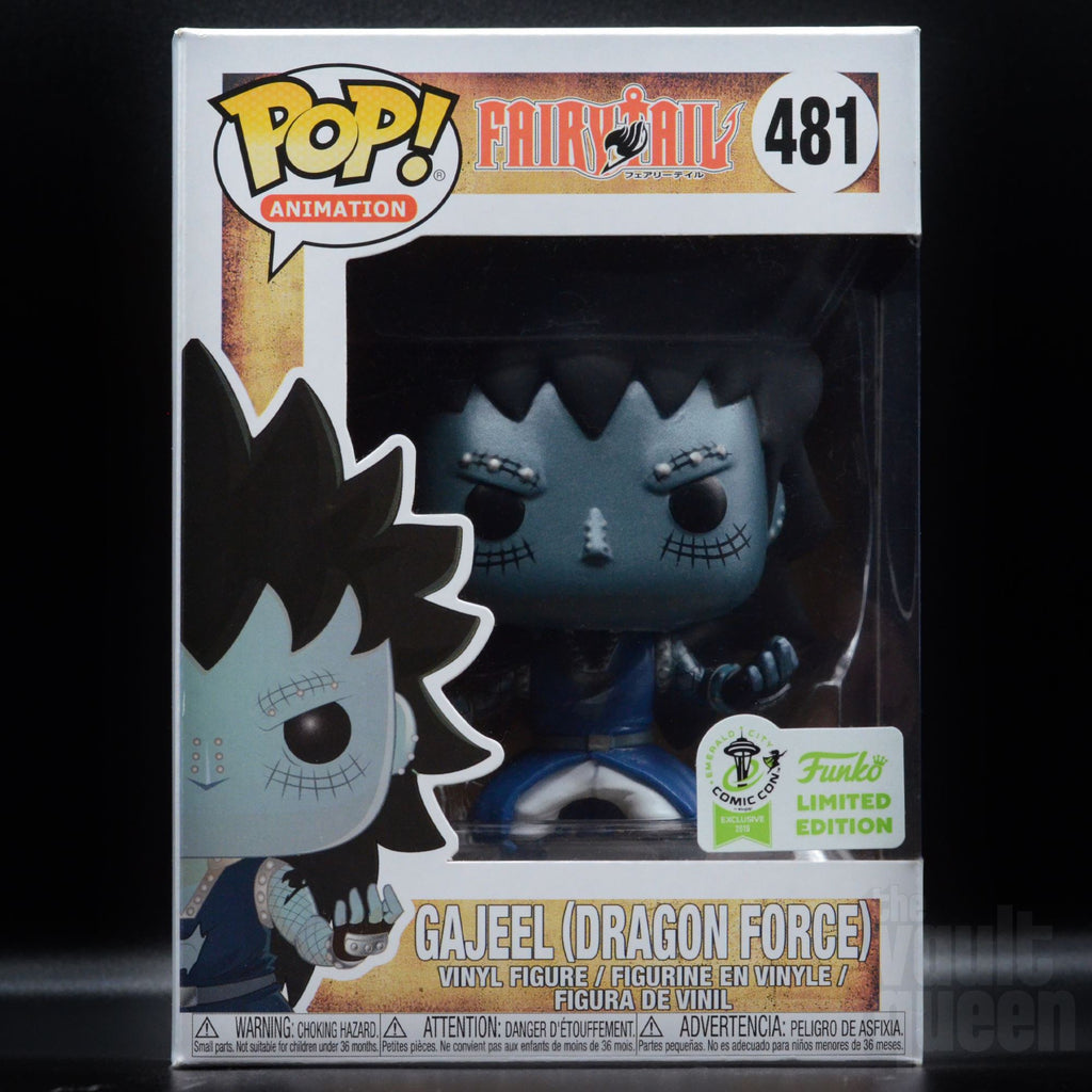Funko POP! Animation: Fairytale Gajeel (Dragon Force) Metallic #481 ECCC 2019 Exclusive Pop! Funko
