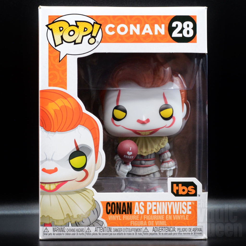 Funko POP! Conan O'Brien as Pennywise #28 Team Coco SDCC 2019 Exclusive Pop! Funko