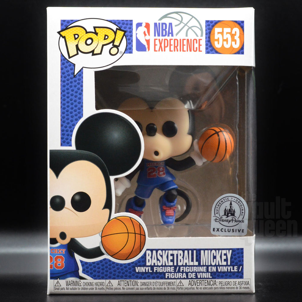 Funko Pop! Disney: Basketball Mickey Mouse #553 NBA Experience Parks Exclusive Pop! Funko