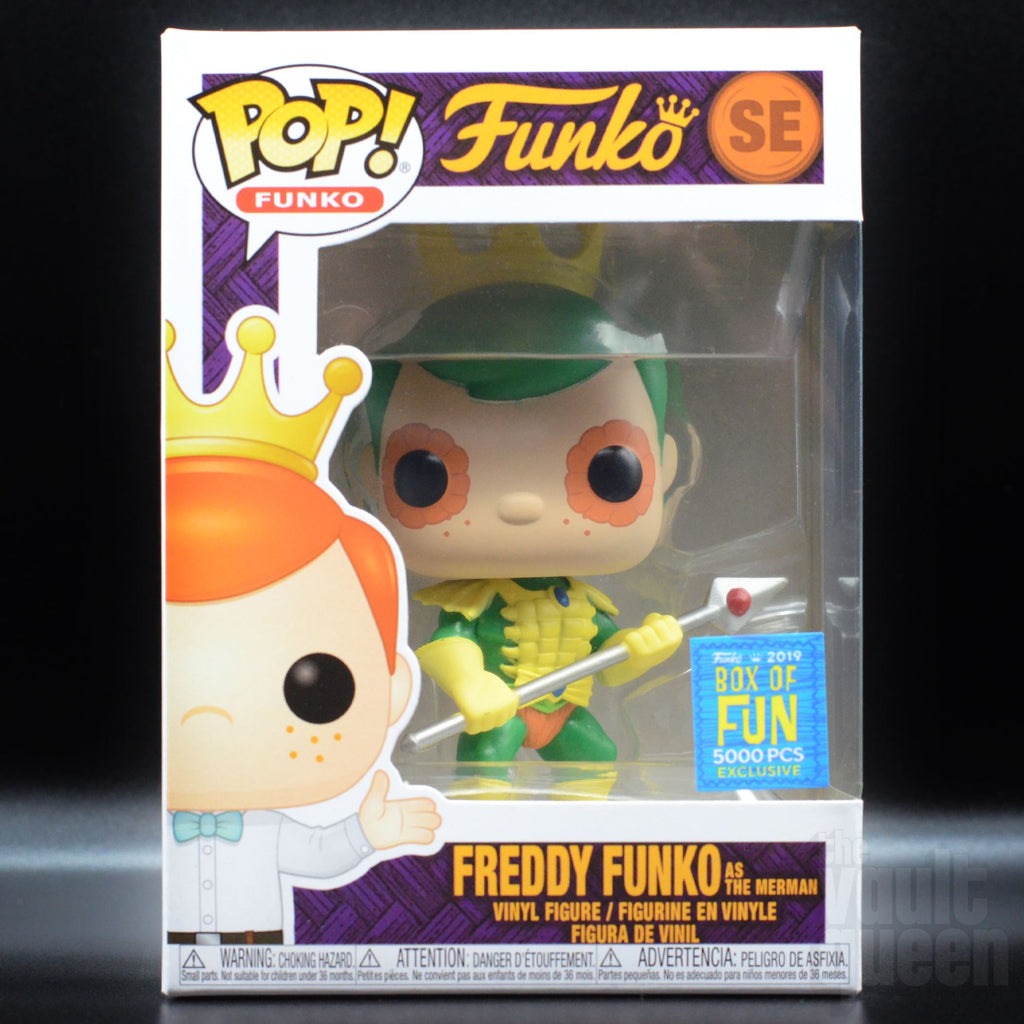 Funko Pop! Freddy Funko as Merman SDCC 2019 Fundays Funko Shop Box of Fun Exclusive LE5000 Pop! Funko