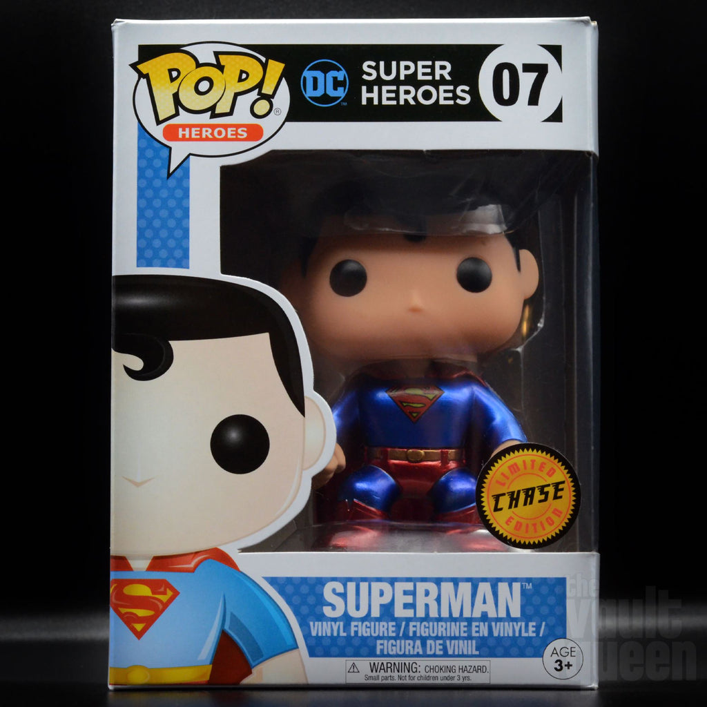 Funko Pop! Heroes DC Super Heroes Superman (Metallic Chase) #07 Pop! Funko