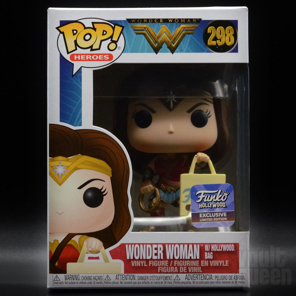 Funko Pop! Heroes: Wonder Woman w/ Shopping Bag #298 Funko Hollywood Grand Opening Exclusive Pop! Funko