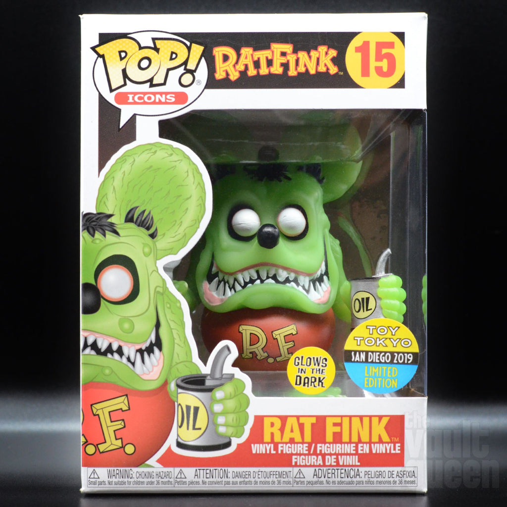 Funko Pop! Icons: Ratfink #15 (GITD) SDCC 2918 Toy Tokyo Exclusive Pop! Funko