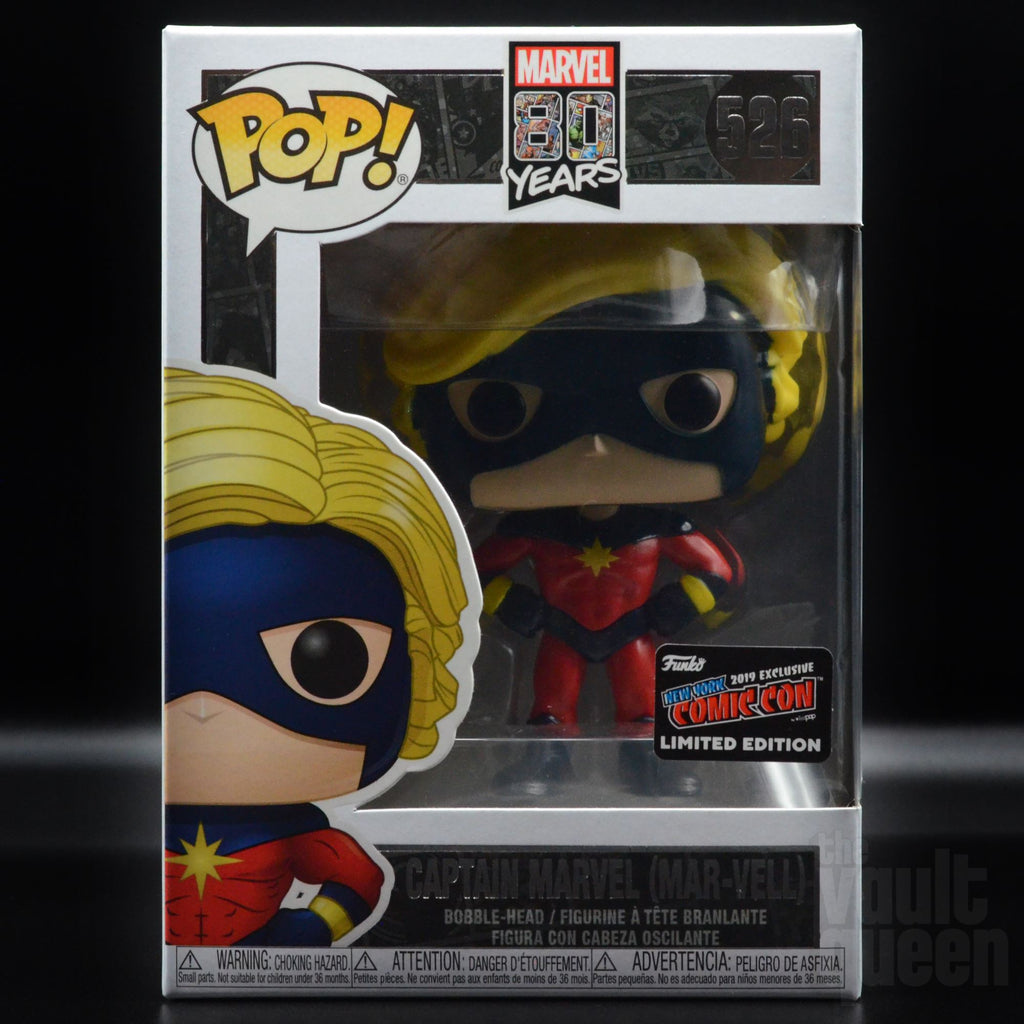Funko Pop! Marvel 80 Years Captain Marvel (Mar-Vell) #526 NYCC 2019 Exclusive Pop! Funko