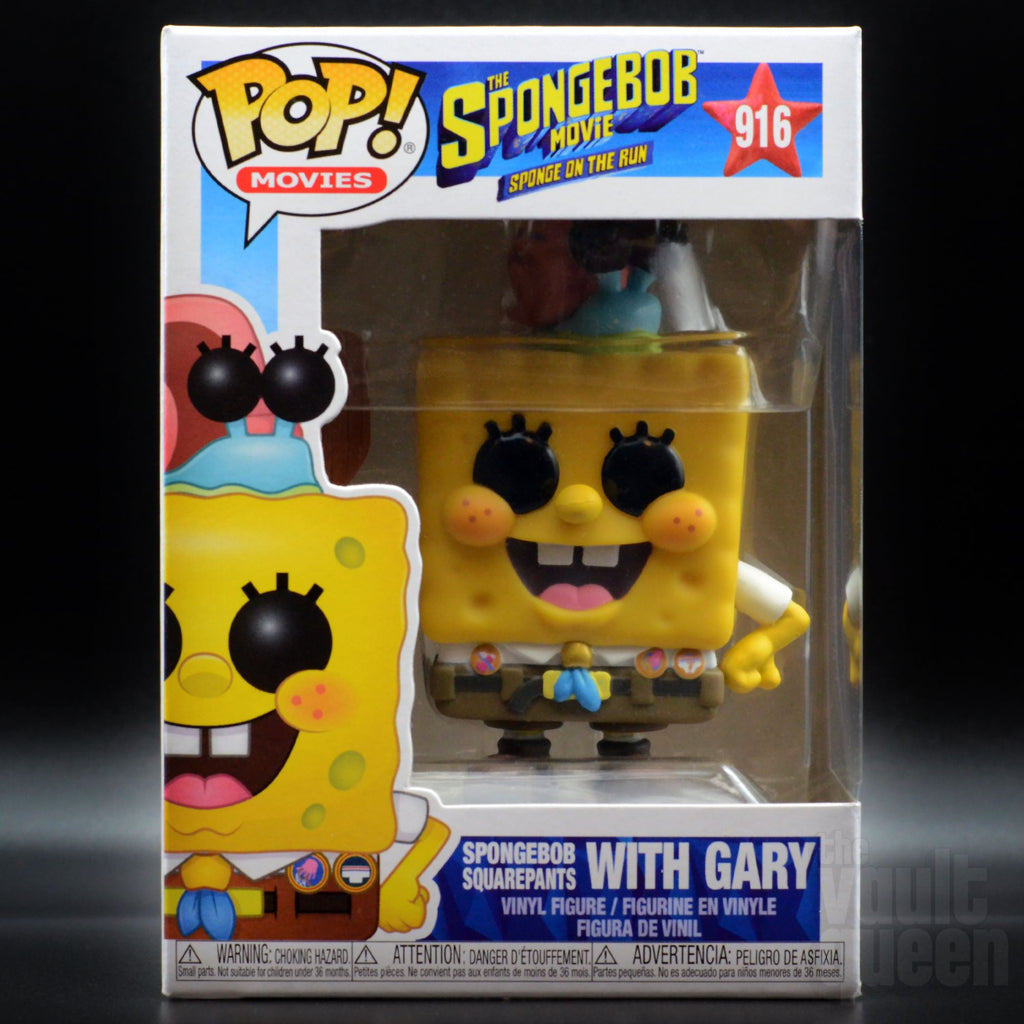 Funko POP! Movies: The SpongeBob Movie, Sponge on the Run- SpongeBob with Gary #916 Pop! Funko