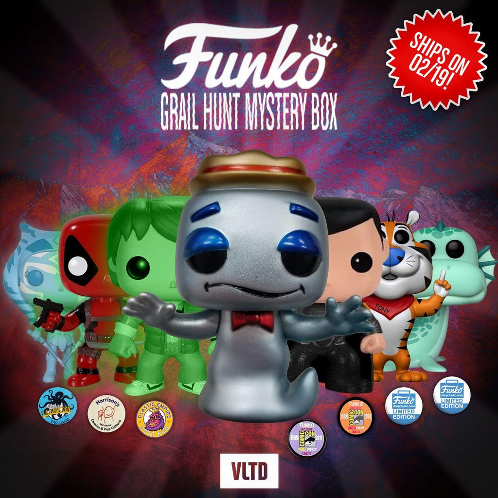 FUNKO POP! MYSTERY BOX: Prizes Can Include Metallic Boo Berry (LE480), Black Suit Superman (LE1008), Marty McFly (Plutonium Glow LE3000), GITD Deadpool, Tony the Tiger (LE3000) & more! Mystery Box VLTD
