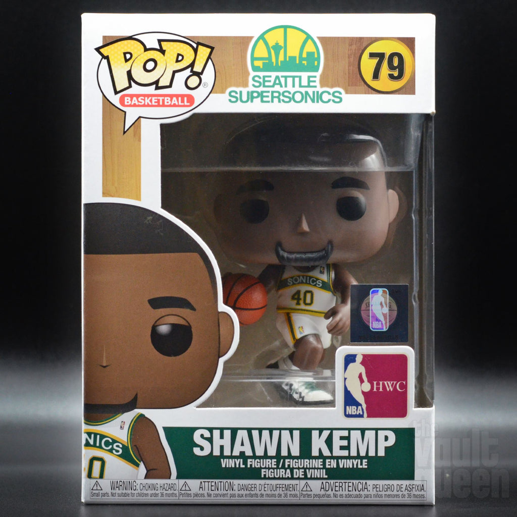 Funko Pop! NBA Legends: Shawn Kemp (Home Jersey) Seattle Supersonics #79 Pop! Funko
