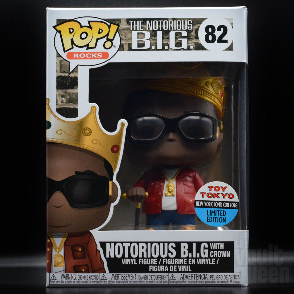 Funko Pop! Rocks Notorious B.I.G. with Crown (Metallic) #82 Toy Tokyo NYCC 2018 Exclusive Pop! Funko