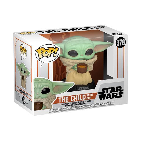 Funko Pop! Star Wars: The Mandalorian - The Child (Baby Yoda) with Cup #378 Pop! Funko