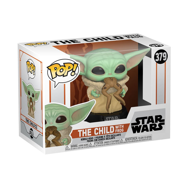 Funko Pop! Star Wars: The Mandalorian - The Child (Baby Yoda) with Frog #379 Pop! Funko